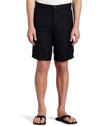 Haggar Men's Big-Tall Cool 18 Gabardine Hidden Expandable Waist Plain Front Short,Navy,48
