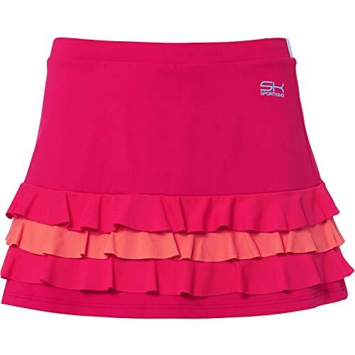 Sportkind Mädchen & DamenTennis, Hockey, Golf Rüschenrock mit Innenhose, pink Mixed, Gr. 116