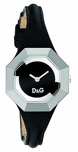 D&G Dolce&Gabbana 3719770084 - Reloj cronógrafo unisex de cuarzo con correa de piel blanca (cronómetro) - sumergible a 50 metros