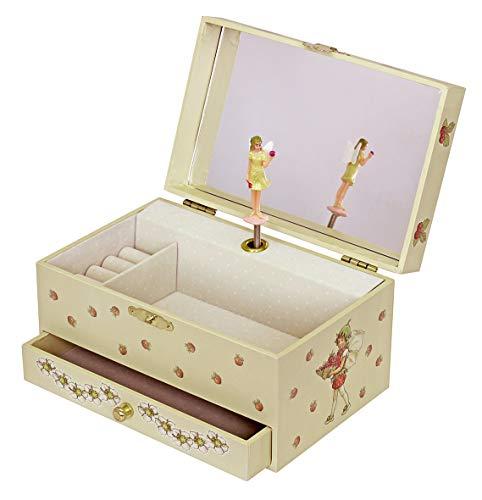"""Trousselier 60615 – Spieluhr """"TR Schublade XL Strawberry"""" (Spieldosen, Musikdosen, Spieluhren) das ideale Geschenk - 2"""