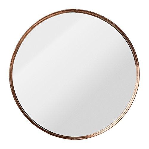 Bloomingville Medium Runde Metall gerahmt Spiegel mit Kupfer-Finish