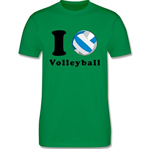 Volleyball - I Love Volleyball - Herren Premium T-Shirt Grün