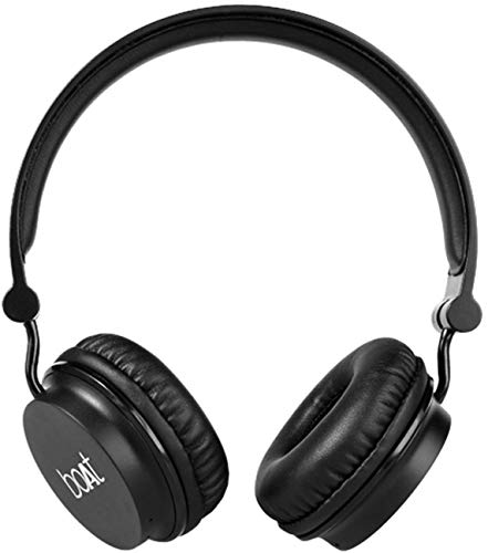 Boat Rockerz 400 On-Ear Bluetooth Headphones (Carbon Black)