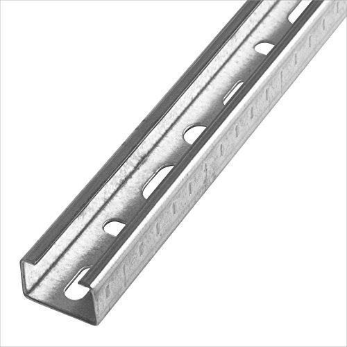 Stabilo-Sanitaer Montageschiene 27/18 2m Installationsschiene 27x18 mm 200cm C-Profil U-Profil Profilschiene Lochschiene Installationsschiene