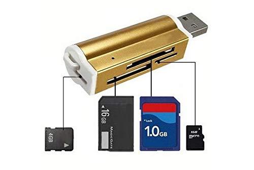 MECO Lector tarjetas memoria Micro SD MMC SDHC TF