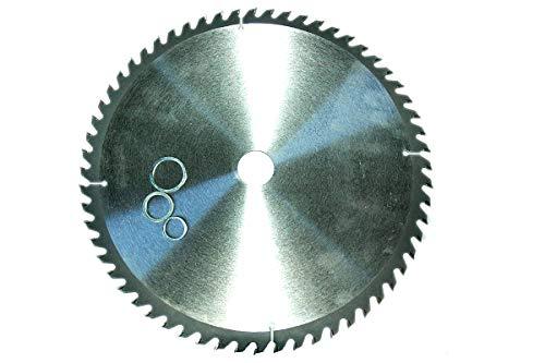 Lame de scie circulaire denture alternée 250 mm 60 dents avec 3 bague adaptateur 30 25,4 20 mm Scie