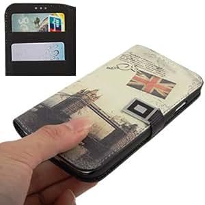 Ellegante und Hochwertige Tasche, Case, Hülle, Ledertasche für Samsung Galaxy S IV 4 - London