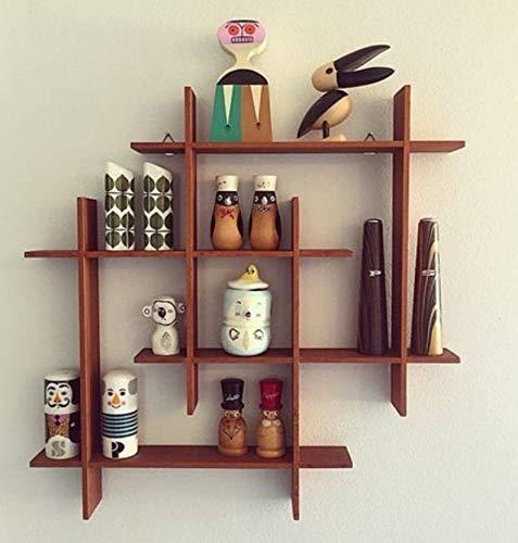 onlinecraft Wooden Wall Shelf aa499 (Brown)