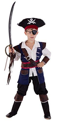 Piraten Kapitän - Piraten Kostüm Kinder Jungen Karneval - Seeräuber Kostüm Kinder Jungen (Jungen Für Kinder Halloween Kostüme)