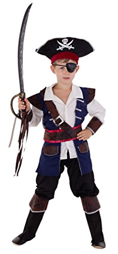 Piraten Kapitän - Piraten Kostüm Kinder Jungen Karneval - Seeräuber Kostüm Kinder Jungen (Kostüme Junge Piraten)
