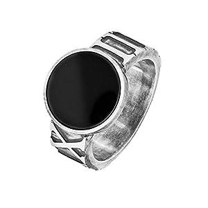 Caï Herren-Ring Men 925er Silber Onyx (grau)