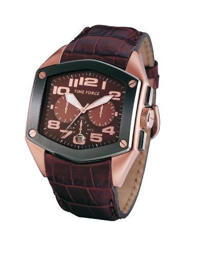 Time Force - TF3090M11 - Montre Homme - Quartz Analogique - Cadran Brun - Bracelet en Cuir Brun