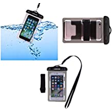 DFV mobile - Funda y Brazalete Acuatico Protector Playa Sumergible Universal 30M Impermeable para => HUAWEI G PLAY MINI > Negra