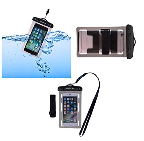 DFV mobile - Armband Universal Protective Beach Case 30M Underwater Waterproof Bag for => ANYCOOL T618 > Black