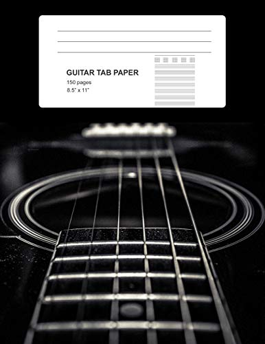 Guitar Tab Paper: Softcover (8,5x11 inches) with 150 Pages, Guitar Blank Sheet Notebook