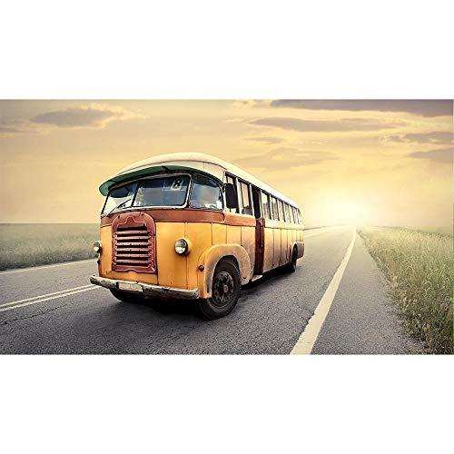 CHUDU Bus Vintage 1000 Pièces Puzzle pour Enfants Adultes en Bois Vacances Week-End de Travail D'Équipe en Décompression