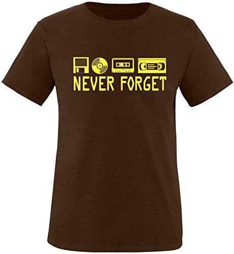 EZYshirt® Ich Irre ? Vielleicht sollte ich mal von meinem Einhorn steigen und dir eine knallen Crew-Neck T-Shirt Braun/Gelb