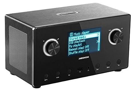 MEDION LIFE P85043 (MS 87385) WiFi Stereo Internet-Radio, Empfang von mehr als 15.000 Internet Radiosendern, DAB+ Empfänger, Steuerung durch kostenlose App, DLNA 1.5 kompatibel,