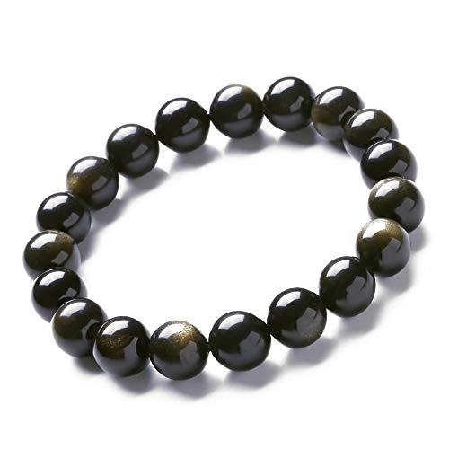 MGZDH 5 Eine natürliche Katze Auge Jin Shi Einzelring Armband Perlen