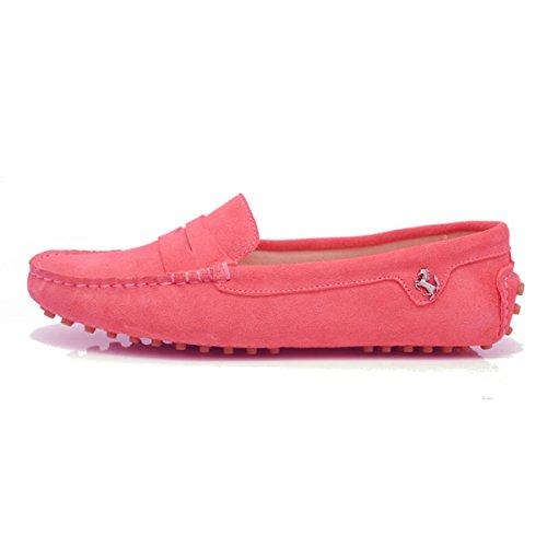 Minitoo, Punta chiusa donna Suede-Rose Pink