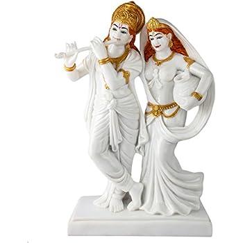 Buy Exotic India Radha Krishna Brass Statue Online At