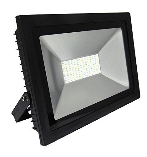 Projecteur extérieur à LED - 100 W - 6000 K - Équivalent à 1000 W - Économie d'énergie - Éclairage de sécurité - Pour jardin ou allée