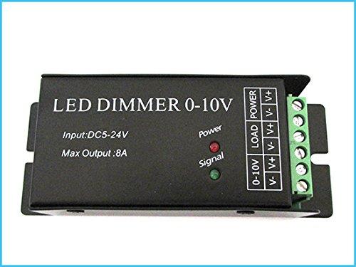 Led Dimmer Con Segnale 0-10V o Con Potenziometro 12V 24V 8A Per Striscia Led DM010