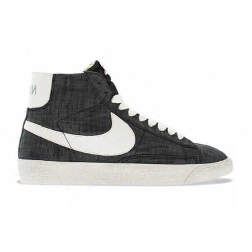 Nike Blazer mid premium vintage canvas 555095002, Baskets Mode Homme Gris