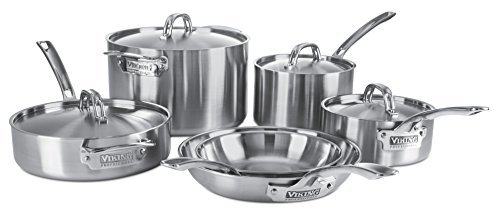 Viking Culinary Professional 5-Ply 10 Piece Stainless Steel Cookware Set by Viking Culinary