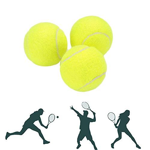 Toruiwa 3X Tennisbälle Tennis Bälle Tennisbälle Hohe Elastizität Practice Ball für Kinder Haustiere Hund Katze Hundespielzeug -