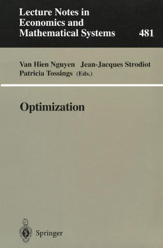 Optimization: Proceedings Of The 9Th Belgian-French-German Conference On Optimization Namur, September 7-11, 1998 (Lecture Notes In Economics And Mathematical Systems)