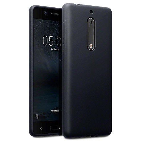 Terrapin, Kompatibel mit Nokia 5 Hülle, TPU Schutzhülle Tasche Case Cover - Matt Schwarz EINWEG