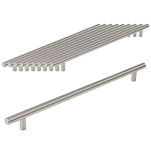 Probrico Küchenschrank-Griff in T-Form PD201HSS64, Edelstahl, Durchmesser 12mm, Loch zu Loch 64mm, 10 Pcs, CC:288mm