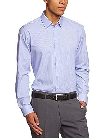 Strellson Herren Slim Fit Vichykaro Blau (Blau 325) 11002384, Größe 37