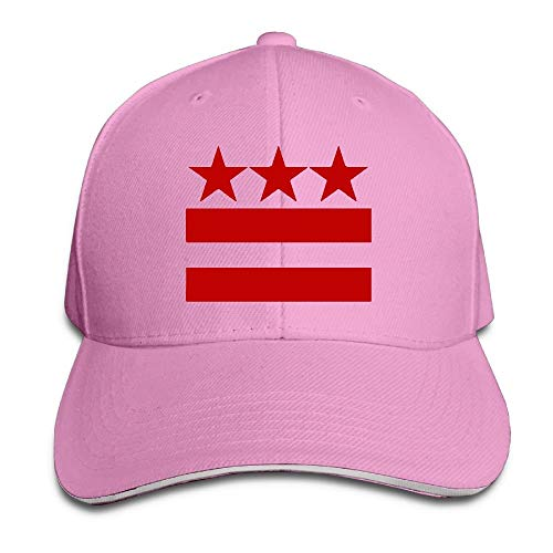 Washington Dc Zoo (VTXINS Unisex Washington DC Flag Snapback Hat Adjustable Peaked Sandwich Cap)