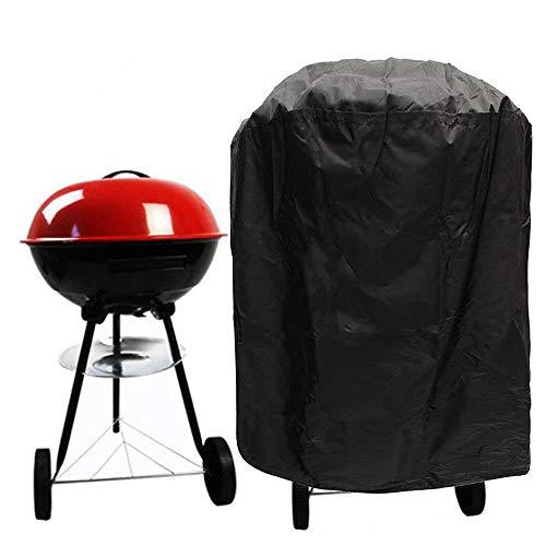 Couvercle de gril de barbecue rond Couvercle de gril à gaz Résistant à l'eau, étanche à la poussière et aux déchirures Résistant aux UV Protection contre les grillades Protection pour meubles(71x56cm)