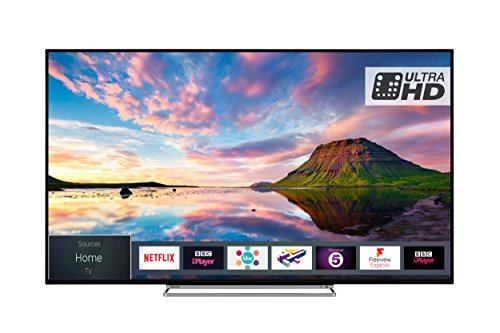 Toshiba 65U5863DB 65-Inch Smart 4K Ultra-HD HDR LED TV WiFi with Freeview Play - Black/Silver (2018 Model)