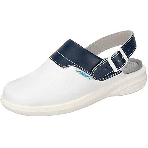 Abeba 7622-38 Easy Chaussures sabot Taille 38 Blanc/Bleu