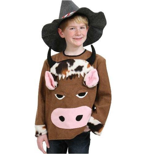 Kostüm Kuh Kind - Kuh Berta Oberteil Kinder Kostüm Gr 152-164