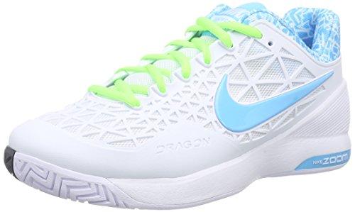 Nike Damen Zoom Cage 2 Tennisschuhe Weiß/Blitz-Limone/Klares Wasser 143), 40.5 EU