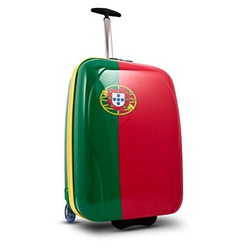 ... 50% SALE ... PREMIUM DESIGNER Hartschalen Koffer - Heys Core XCase Nations Brasilien - Handgepäck Portugal