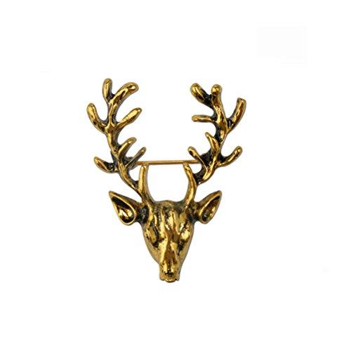 FENICAL Broche de ciervos delicados Pin broche de solapa de oro Broche de animales antiguos alfileres de joyería para la fiesta de regalos de Navidad Proveedores