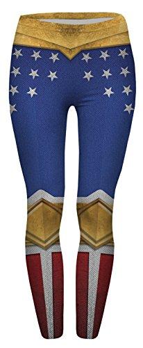 FRINGOO® Women's Yoga Printed Leggings Stretchy Workout Tights Running Gym Pants Base Layer 8 10 12