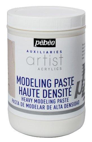 Pebeo 1 Liter schwere Modellierpaste, weiß.