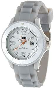 ICE-Watch - Montre Mixte - Quartz Analogique - Ice-Forever - Silver - Small - Cadran Gris - Bracelet Silicone Gris - SI.SR.S.S.09