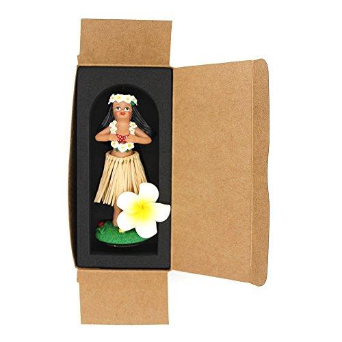 Salpicadero-Hula-Girl-smyer-Hawaiian-Hula-Girl-mueca-de-borla-de-salpicadero-polirresina-raffia-skirt