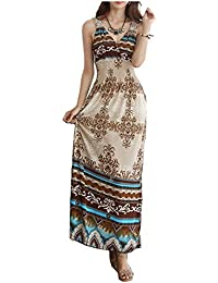 Fashion Plaza V-neck Lacey Back Floral Printed Beach Party Casual Dress W05838