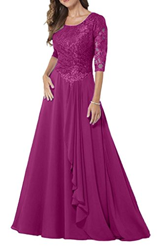 La_Marie Braut Navy Blau Damen Spitze Brautmutterkleider Abendkleider Ballkleider Langes Promkleider Pink