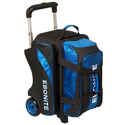 Ebonite Equinox Doppelrollo Rollo Bowling Bag, unisex, Equinox Double Ball Roller, Schwarz / Königsblau