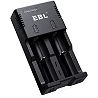 EBL 18650 Battery Charger for 18650 26650 14500 Li-ion and AA AAA C Ni-MH Ni-CD Rechargeable Batteries, Intelligent 18650 Lithium-ion Charger